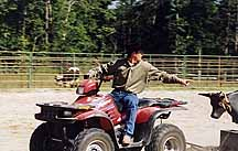 Michael Instructing from Four Wheeler